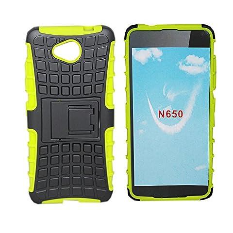 Lapinette - Etui Housse Coque Anti Choc Nokia Lumia 650 + FILM Vert