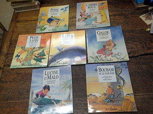 Lot de 7 livres : Une histoire de Jean-Pierre Idatte : Lucine et Malo - Galou le berger - Boubam et le tam-tam - petit sapin quatre saisons - Pitou l'enfant-roi - Leïla et la baleine - L'arbre roux -