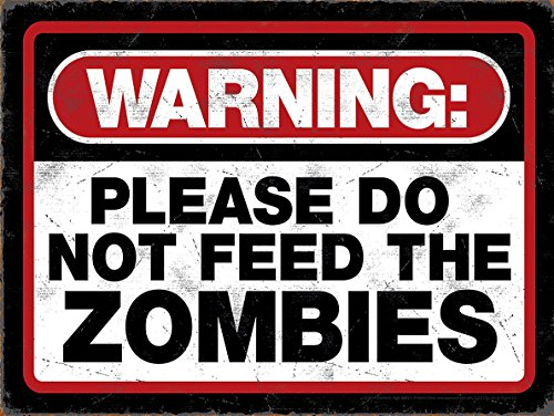Warnung Bitte nicht Feed The Zombies Funny Retro -