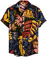 Slagon Ethnic Short Sleeve Blouse Casual Cotton Linen Top Printing Hawaiian Shirt Daily Fashion Tee For Men Ho