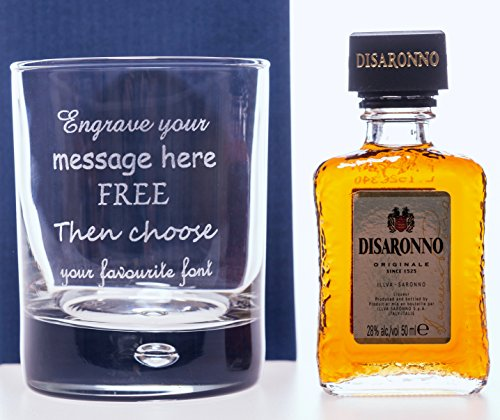 engraved-personalised-bubble-based-glass-disaronno-amaretto-miniature