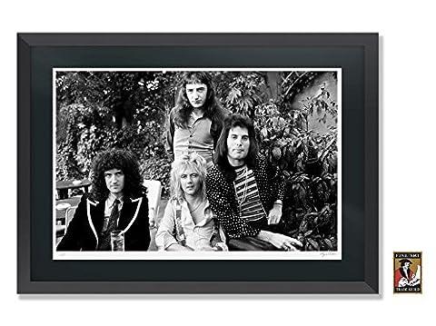 Freddie Mercury und Queen Rock Music Große gerahmt Fine Art Foto NEU, Black Frame - Black Mount, 30.3 inches x 21.9 inches - 77.2cm x 55.8cm