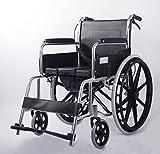 T-Rollstühle Aluminiumlegierungs-Rollstuhl, faltender beweglicher Rollstuhl, manuell, arbeitsunfähig, ältere Personen, Toiletten-Funktion (17KG)