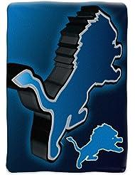 """Detroit Lions NFL Micro Raschel Blanket (Bevel Series) (80x60"""")"""""""