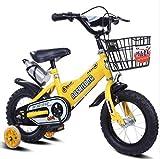 CSPMM Original Premium Safety Sport Kinderfahrrad mit Seitenständer und Zubehör für Kinder ab 4 Jahren Classic Edition für Jungen und Mädchen (größe : 14 inches)