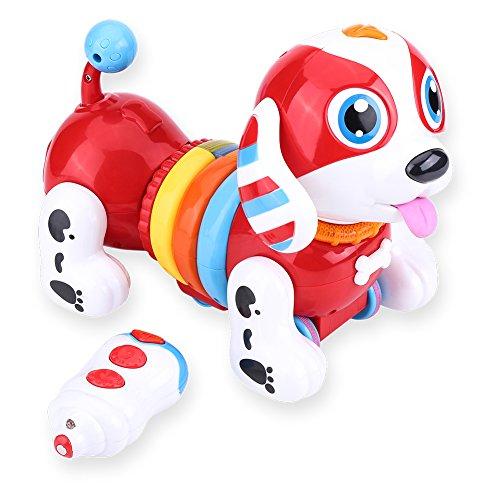 Dilwe RC Hunde Spielzeug, Elektronische Fernbedienung Robotic Puppy Interactive Singing Dancing Sprechendes Roboter-Hunde Spielzeug Geschenk für Kinder