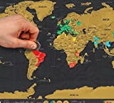 #1: New Deluxe Travel Edition Scratch Off World Map Poster Personalized Journal Map