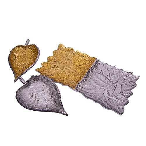 Marusthali Décor Your Table With Silver And Gold Leaf Shaped