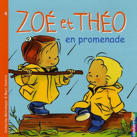 Zoé et Théo en promenade par Catherine Metzmeyer
