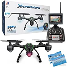 JXD 510G X-predators Quadrocopter Drohne 5,8Ghz FPV Monitor 2 MP Kamera Hold Funktion incl. Copter Card