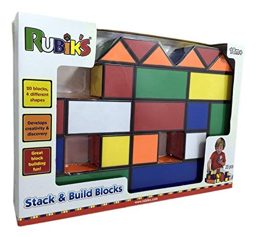 Rubik's Stack & Build Blocks, with 20 Blocks Develop Creativity