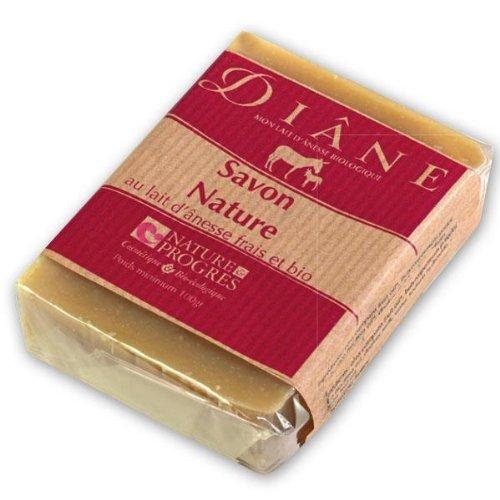 Diane Beliflor - Savon Nature au lait d ânesse Frais & Bio - 100g