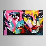 LIUXIAOYAN Kunst 100% handgemalte Wandkunst für große Malerei Mode Kunst Leinwand Frauen Bunte Gesicht Bild Abstrakte Figuren Ölgemälde