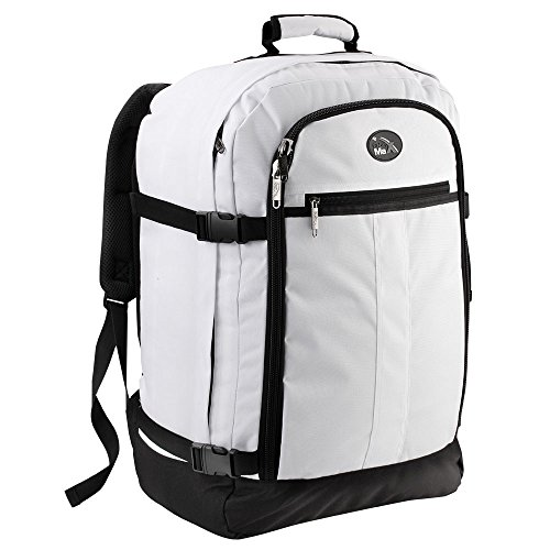 Cabin Max Backpack Flight Approved Carry On Bag Massive 44 litre Travel Hand Luggage 55x40x20 cm (White)