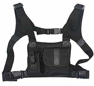 abcGOODefg® Radio harnais de poitrine sacs Holster Vest Rig (Essentials sauvetage)