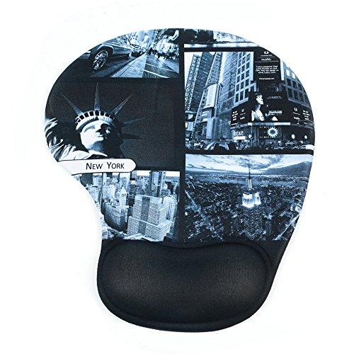 BADALink Gel Retro-Motiv Mousepad Handgelenkschutz Schöne Persönlichkeit Farbe Silikon-Pads Mousepads Gaming Mauspad or Fast and Accurate Control mit Welcome To New York Design