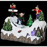 AC-Déco Villaggio di Natale–Montagna e snowboard–Decorazione