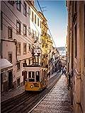 Poster 30 x 40 cm: Tram in Lissabon von Jörg Gamroth -