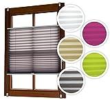 Plissee Verspannt mit Klemmträgern ohne Bohren Faltrollo Fensterrollo grün 110 x 140 cm