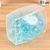Fancyku Mesh Ball Anti Stress Mesh/Bulb Spongy Ball Toy Grape Stress Relief Squeezing Ball (Blue)