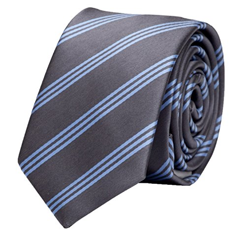 Krawatte grau gestreift von Fabio Farini