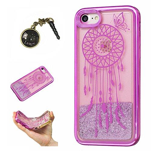 Laoke für Apple iPhone7 (4.7 Zoll) Hülle Schutzhülle Handy TPU Silikon Hülle Case Cover Durchsichtig Gel Tasche Bumper ( + Stöpsel Staubschutz) (4) 7