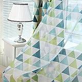 Broadroot Geometrische Dreieck Muster Fenster Vorhang Voile Vorhang für Schlafzimmer (Haken)