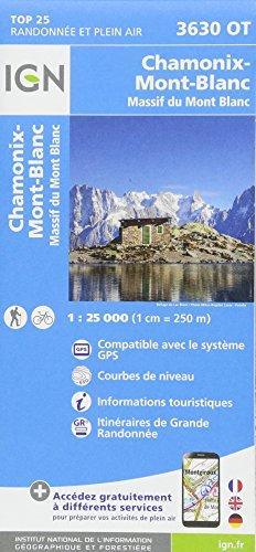 Chamonix - Massif du Mont Blanc 1:25 000