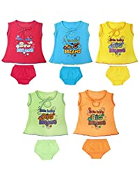 Feel Trendy baby girlsCotton Frock (Pack of 5) 3 to 6month from phoenix99