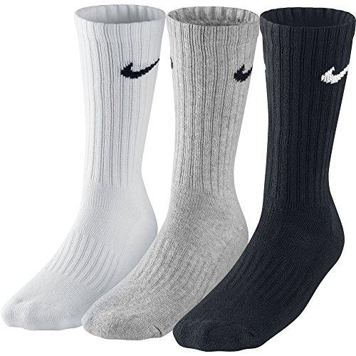 Nike 3Ppk Value Cotton Crew-Smlx Calzini - Multicolore (Multicolore) - L