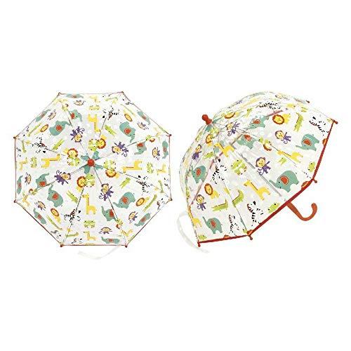 ARDITEX FP10263 Paraguas de EVA Transparente de Mattel-Fisher-Price, 8 Paneles, diámetro 57cm, Forma de Burbuja, Apertura Manual