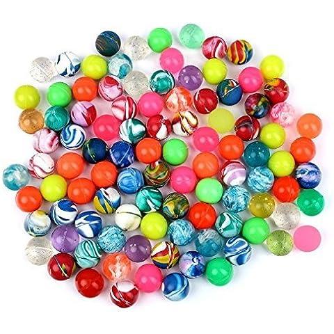 S/o 10Pack Flummis colori assortiti 20mm Flummis spring ball palla da saltare Tombola il compleanno di bambini (0544)