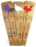 Stick bastone porta zampironi in metallo, ideale per decorazione giardino, vasi, aiuole, balconi. Il set e' composto da 3 PEZZI: UCCELLINO, GALLINA, FARFALLA