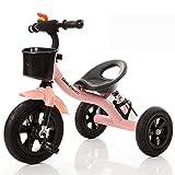 DACHUI Ruota di bolla bike, baby bike, Baby toy car, bambini triciclo, baby carrello (Colore : rosa)