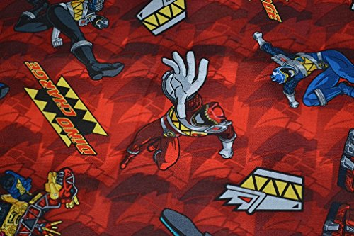 Image of FAT QUARTER SABAN DINO CHARGE POWER RANGERS SPRING CREATIVE 2014 COTTON FABRIC