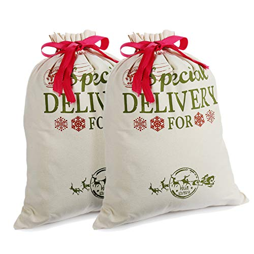 2 Pack Navidad Regalo Bolsas Personalizadas Sacos