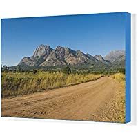 20x30 Canvas Print of Road leading to the granite peaks of Mount Mulanje, Malawi, Africa (11306018)