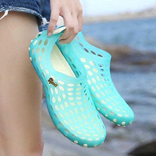 Xing Lin Sandales Pour Hommes Nouvelle Baotou Sandales Hommes Chaussons Femme Respirante En Plastique Antidérapant Sandales DÉté Chaussures Hommes Chaussures De Plage De Trou sky blue