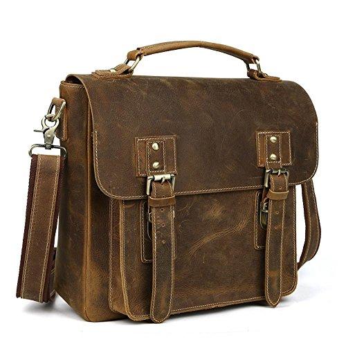 Penao Herren klassische Wind alle grünen Schale Business Handtasche Aktentasche große Kapazität einzelner Umhängetasche 31cmx11cmx29cm - Grüne Klassische Aktentasche