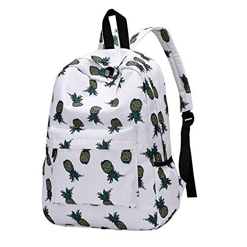 Laptoprucksäcke Daypacks Kamerarucksäcke Sport & Outdoor Neuer Art Frauen Rucksack Ananas Druck Bookbags Weiblicher Reiserucksack Frischer Reißverschluss (40cm, B) (Kleines Mädchen Bookbags)
