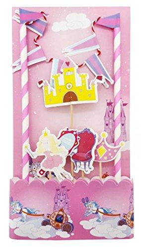 'Prinzessin' 7-tlg. Papierartikel auf Holzstäbchen (Prinzessin Lollipop)