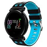 Haihuic Smart Watch für Frauen und Männer Herzfrequenz-Blutdruckmessgerät, Schrittzähler IP68 imprägniern Fitness Tracker für iPhone X Android Phone (Blau)