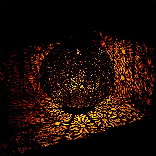 LED Solar Hänge Decken Lampe orientalisch Garten Außen Kugel Steh Laterne schwarz rost Globo 33004