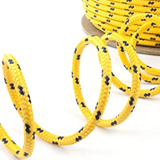 50m yellow polypropylene rope poly cord 10mm