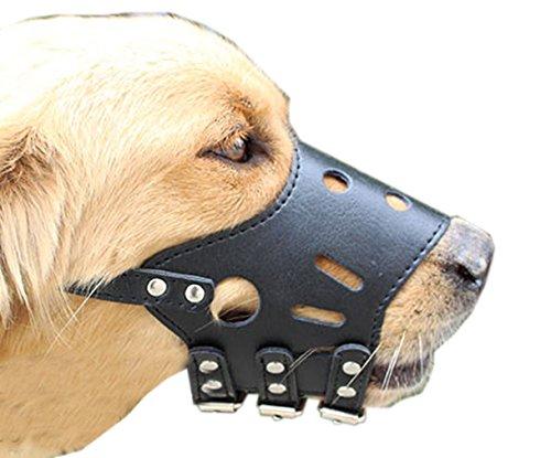 Aimire verstellbar PU Leder Bite Bark Control Maulkorb für Hunde Pet Hunde Maulkorb Anti Bite Bark ermöglichen Drink (Lecken Nase)