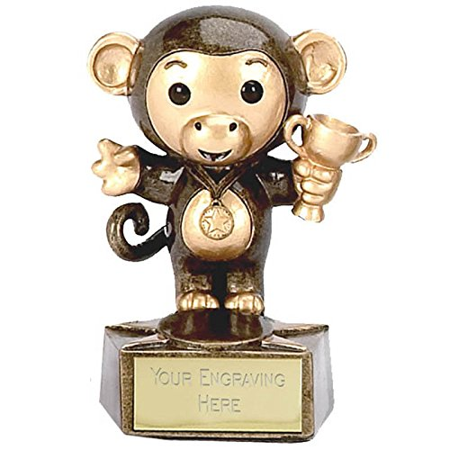 3.5 Monkey3 Award with FREE engraving upto 30 letters A1023 by Womack Graphics
