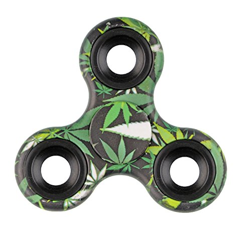 Xinruifeng Fidget Spinner Giocattolo EDC Giocattoli Stress Tri-spinner ADHD, ansia sofferenza adulti e bambini . Fidget Spinner Antistress(Bambus Farbe) - 5