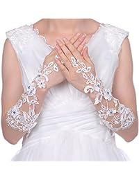 Topwedding gants de mariée/ gants de soirée140018,Ivoire
