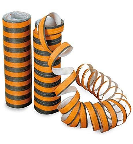 Fries - Halloween Luftschlangen orange schwarz Dekoration Party - 1St