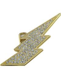 Retro Belt Buckle - Gold Lightning Bolt